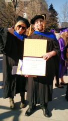 Dr. DeWitt with Jason Franklin, the second doctoral student to graduate from her lab at ECU (2014)! Dr. Franklin is now a postdoc at the US EPA in RTP.